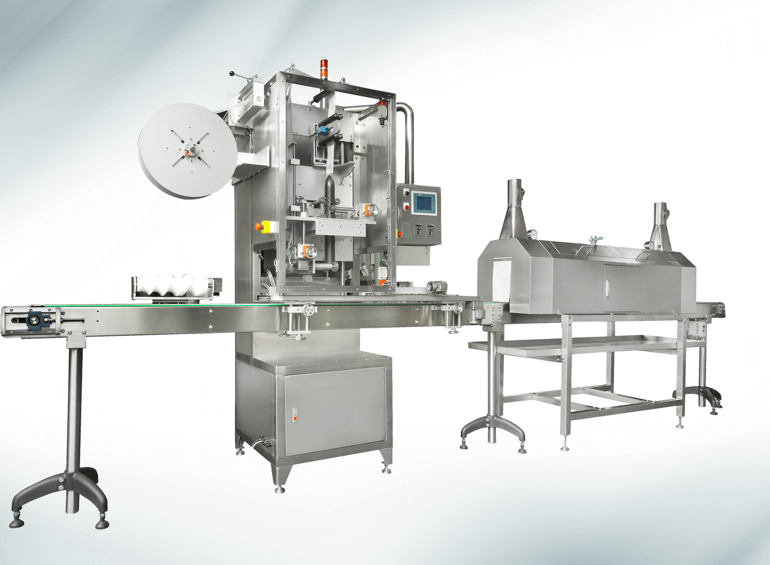 SLEEVE-TYPE AUTOMATIC SHRINK WRAPPER MACHINE